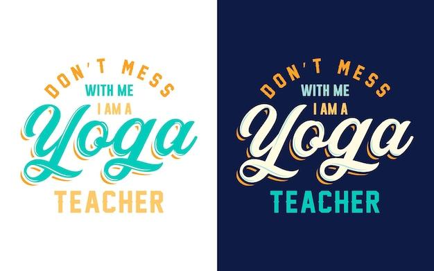 Conception de typographie sur le professeur de yoga