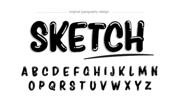 Conception de typographie de style marqueur noir