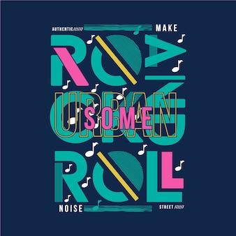 Conception de typographie t-shirt graphique musique rock and rool