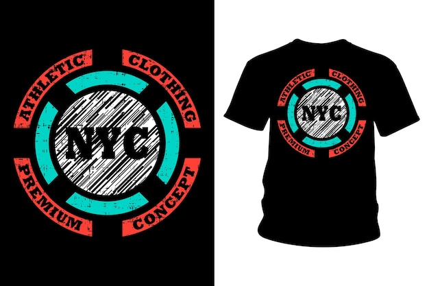 Conception de typographie de t-shirt texte new york city