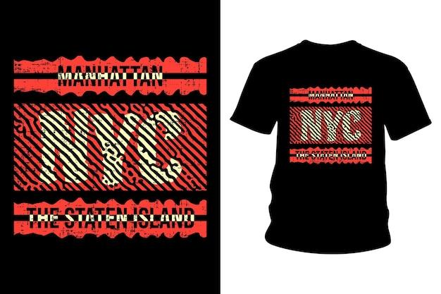 Conception de typographie de t-shirt texte new york city