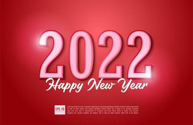 Conception de typographie de texte de bonne année 2022 avec décoration de noël
