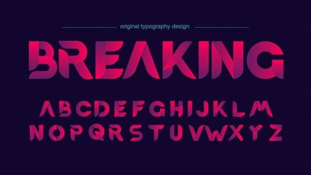 Conception de typographie en tranches moderne