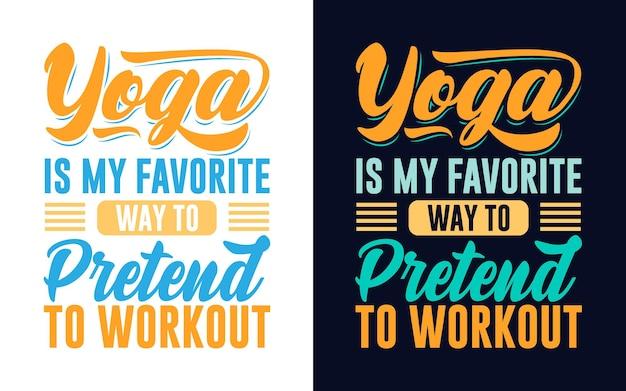 Conception de typographie sur le yoga pour l'impression de tasse de tshirt de carte-cadeau d'autocollant
