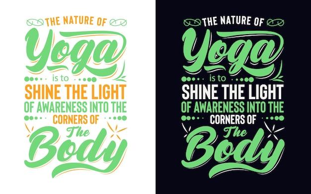 Conception de typographie sur le yoga