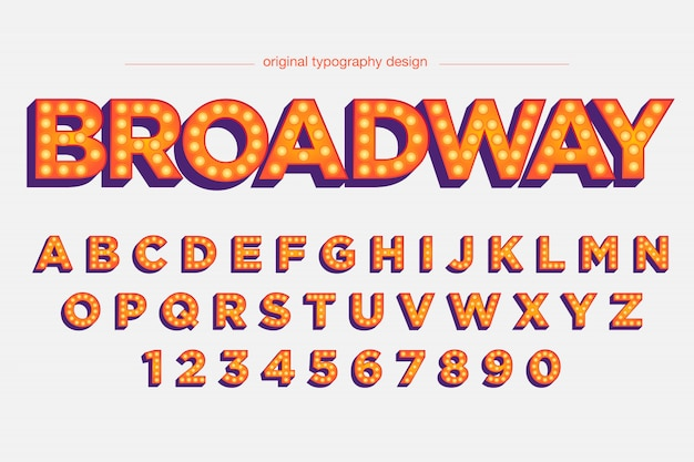 Conception typographique d'affichage lumineux