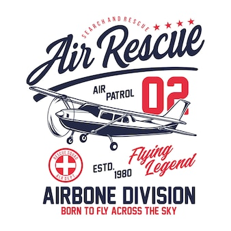 Conception typographique air rescue