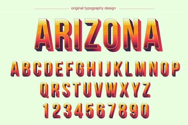Conception typographique de couleurs chaudes vives