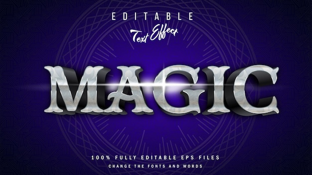 Conception typographique d'effet de texte 3d magique