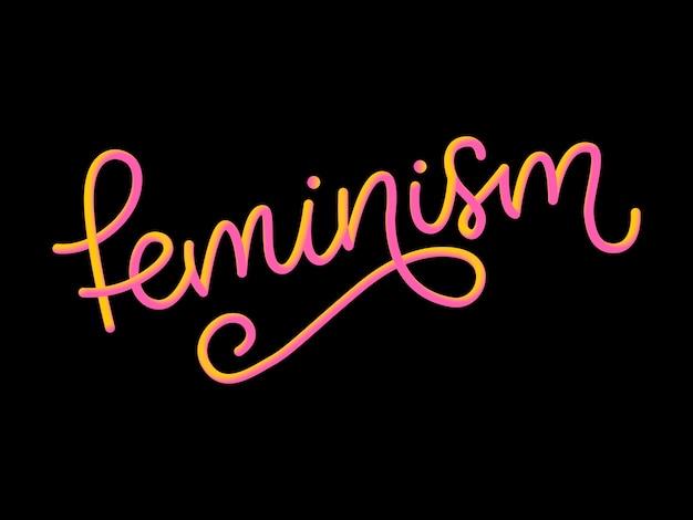 Conception typographique lettre de féminisme 3d.