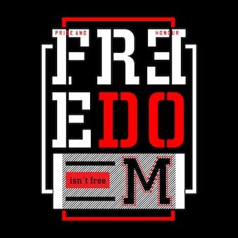 Conception typographique de la liberté, illustration vectorielle