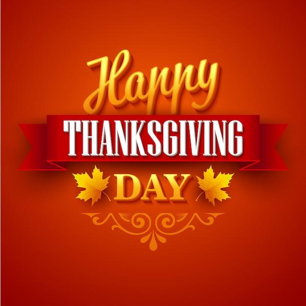 Conception typographique de thanksgiving. illustration vectorielle eps 10
