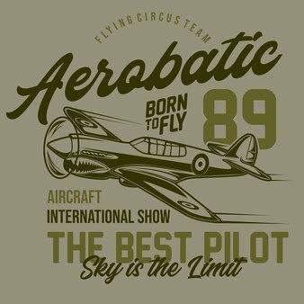 Conception typographique de voltige aérienne