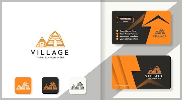 Conception unique de logo de maison et de carte de visite