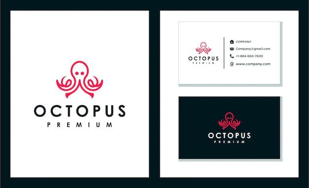 Conception unique de logo de poulpe
