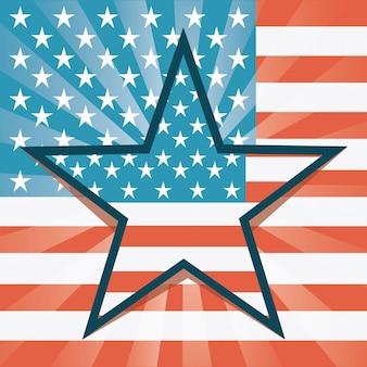 Conception des usa au cours de l'illustration vectorielle fond drapeau