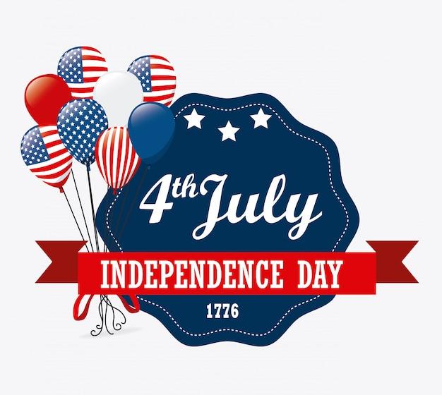 Conception des usa. jour de l'indépendance 4 juillet