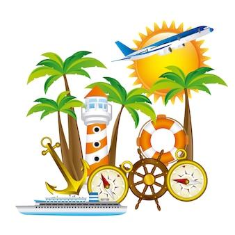 Conception de vacances d'été