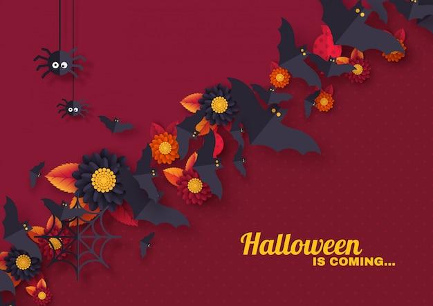Conception de vacances d'halloween avec des objets décoratifs.