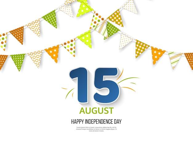 Conception de vacances de jour de l'indépendance indienne.