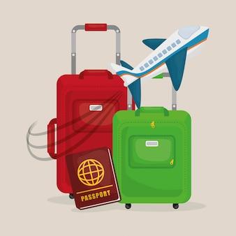 Conception de vacances de voyage.