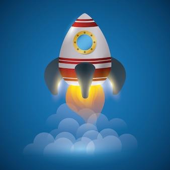 Conception de vaisseau spatial.