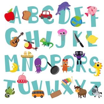 Conception de vecteur alphabet pour enfant