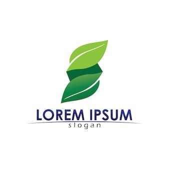 Conception de vecteur arbre feuille logo concept écologique