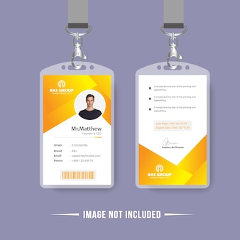 Conception de vecteur de carte d'identité abstraite