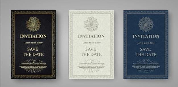 Conception de vecteur de carte d'invitation