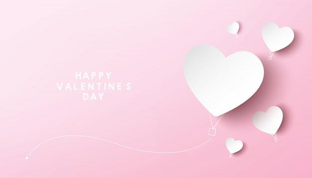 Conception de vecteur de carte de voeux saint valentin heureux