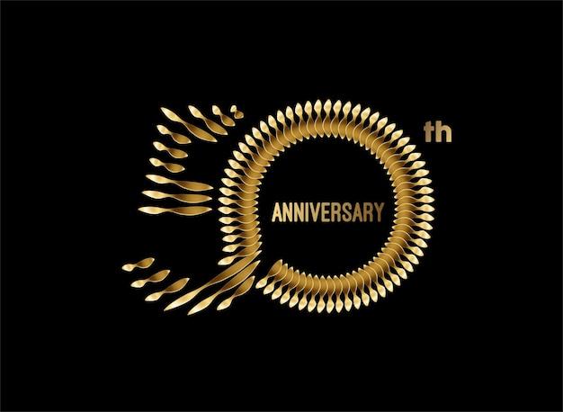 Conception de vecteur de célébration d'anniversaire de 50e ans.