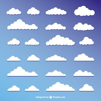 Conception de vecteur de cloudscape