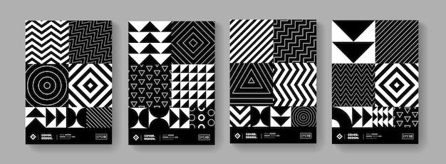 Conception de vecteur de collection d'affiches géométriques minimales cool. motif tendance.