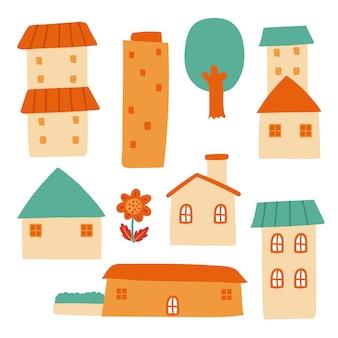Conception de vecteur de collection maison
