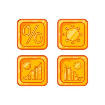 Conception de vecteur d'économie d'or