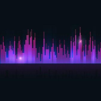Conception de vecteur d'égaliseur d'onde sonore coloré