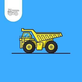 Conception de vecteur d'exploitation minière de camion utilisation parfaite pour l'icône de conception de modèle web ui ux etc.