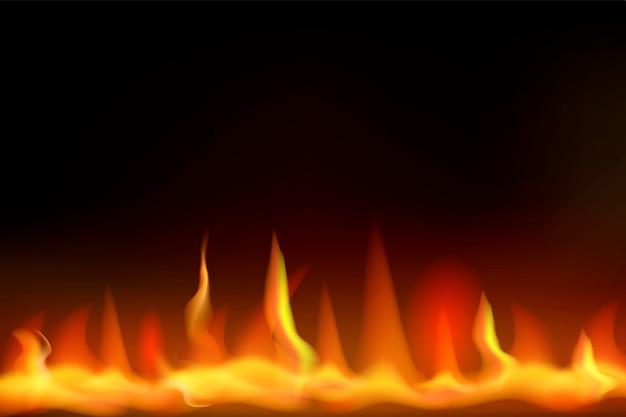 Conception de vecteur de feu