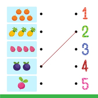Conception de vecteur de feuille de calcul pour enfant