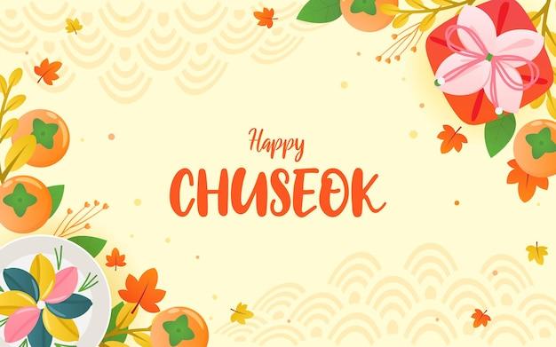 Conception de vecteur de fond cadre joyeux festival chuseok
