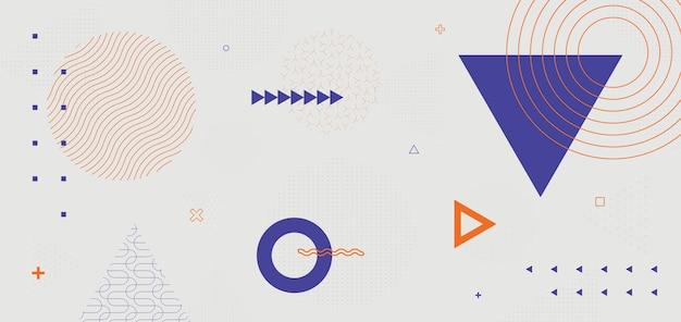 Conception de vecteur de fond géométrique rétro minimal. motif memphis tendance.