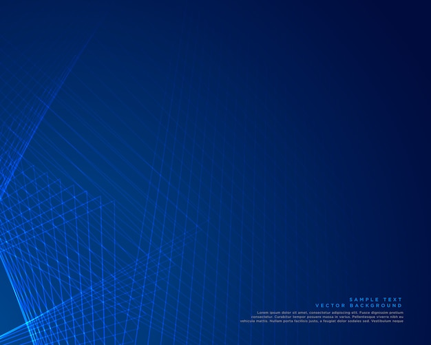 Conception de vecteur de fond lignes bleues
