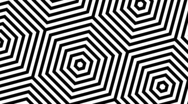 Conception de vecteur de fond de motif géométrique à rayures hexagonales.