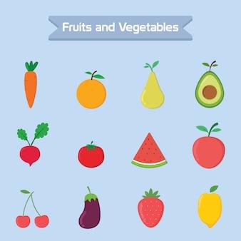 Conception de vecteur de fruits et légumes