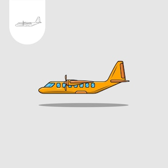 Conception de vecteur d'icône d'avion plat