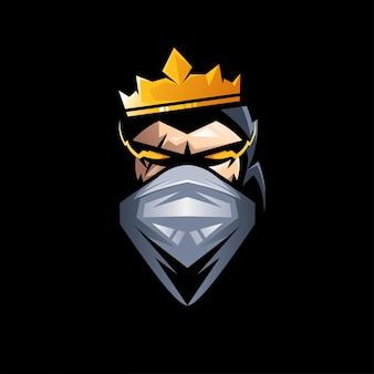 Conception de vecteur d'illustration de masque de gorille roi