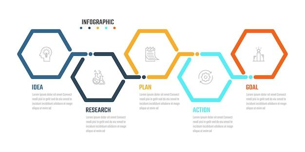 Conception de vecteur d'infographie d'entreprise, informations