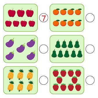 Conception de vecteur de jeu mathématique pour enfant