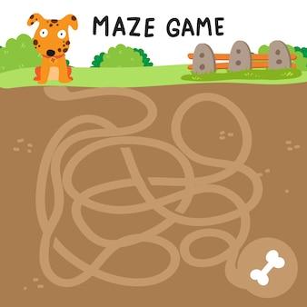 Conception de vecteur de jeu maze
